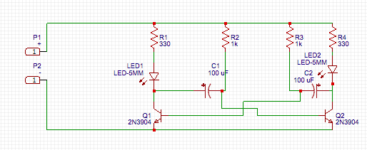 Astable Multivibrator Circuit by JLCPCB